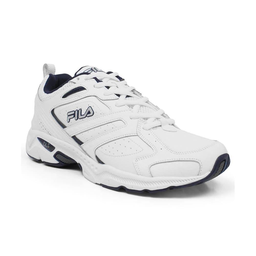 FILA Men's Capture Running Shoes, Medium Width - WHITE/NAVY