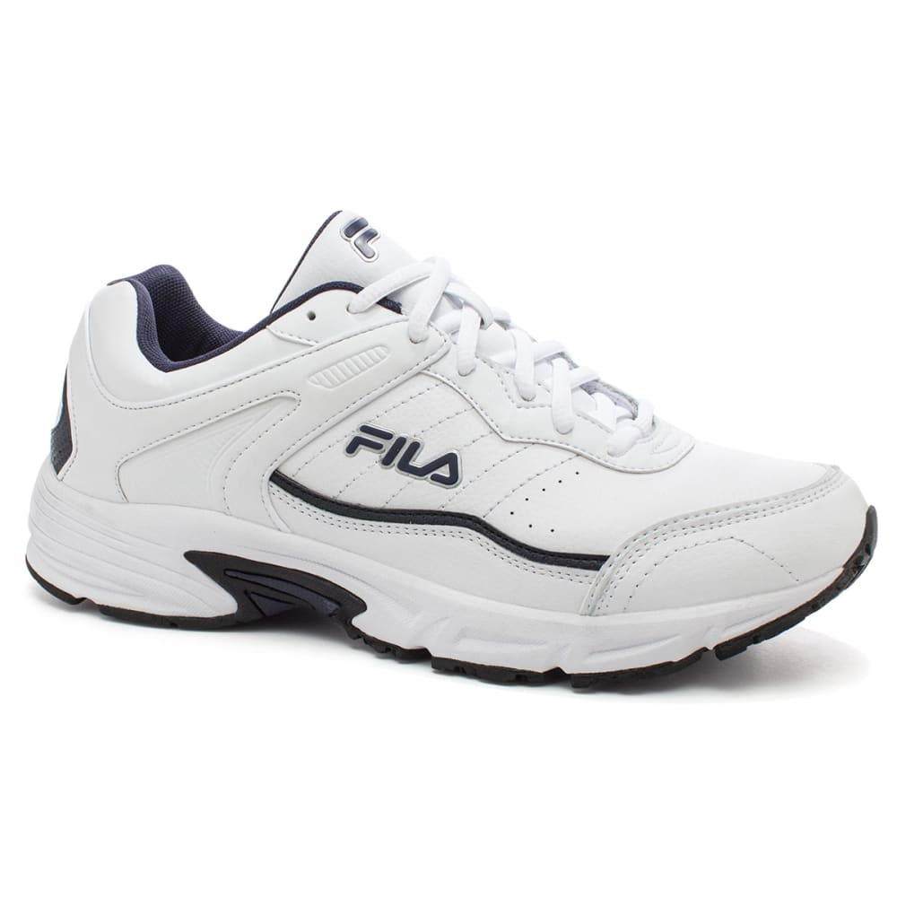 FILA Men's Memory Sportland Running Shoe - WHT/BLU 1SR20831 MED