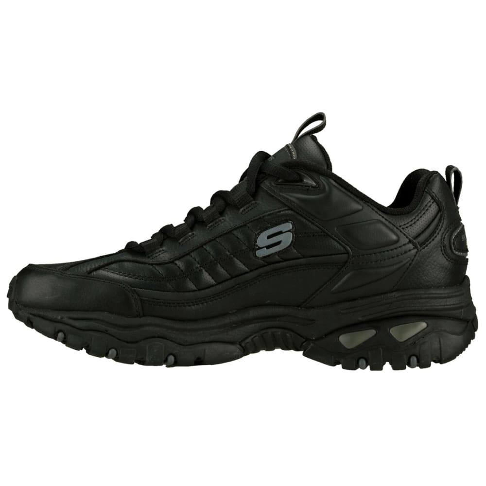 SKECHERS Men's Energy Afterburn Shoes, Wide Width - BLACK
