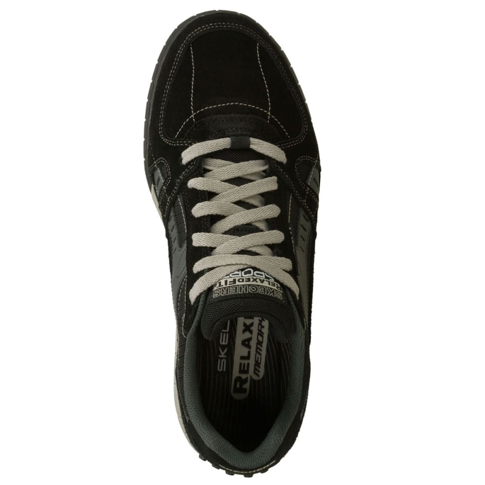SKECHERS Men's Relaxed Fit Floater Shoes - BLACK/GREY