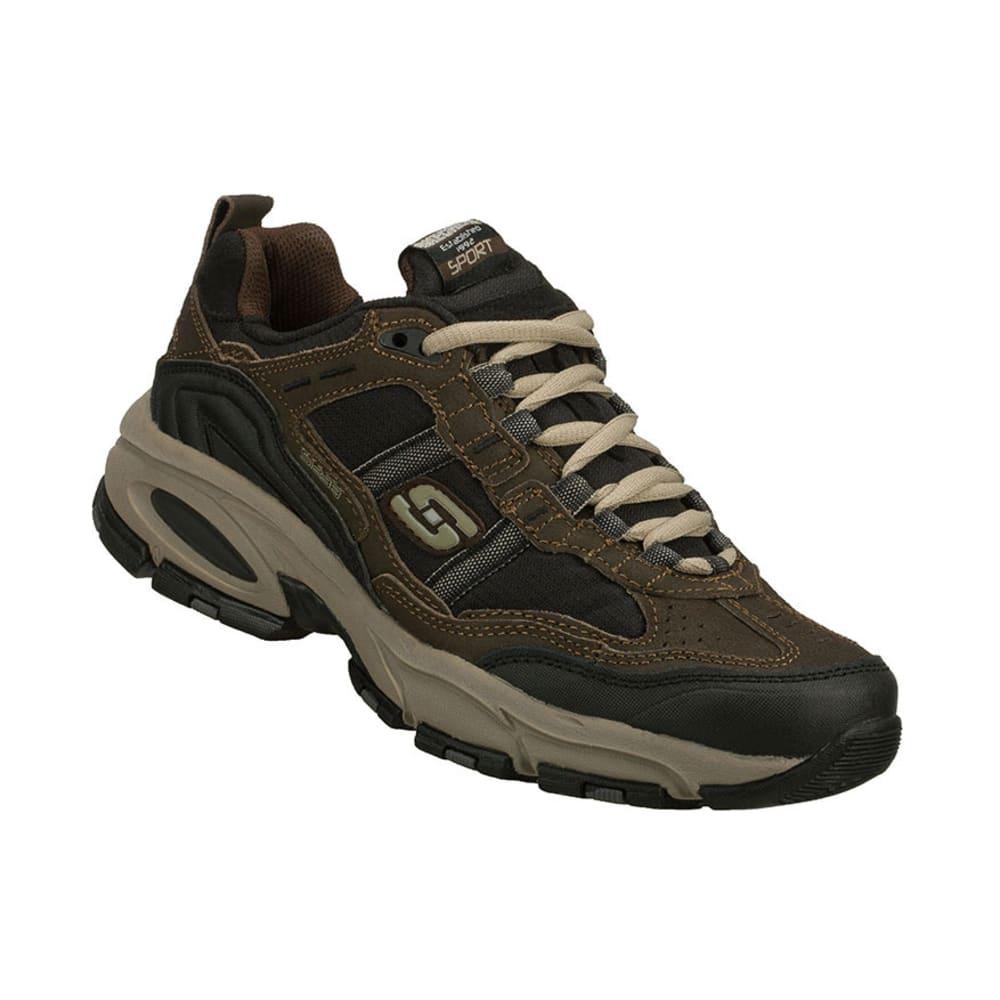 SKECHERS Men's Vigor Shoes, Medium Width - BROWN/BLACK