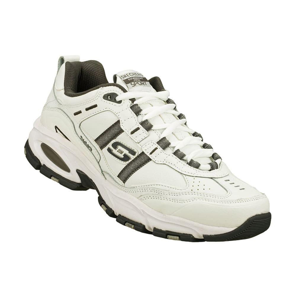 SKECHERS Men's Vigor Shoes, Wide Width - WHITE/GREY