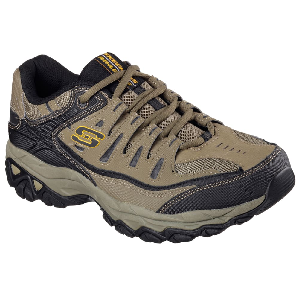SKECHERS Men's After Burn Training Shoes, Wide - PEBBLE
