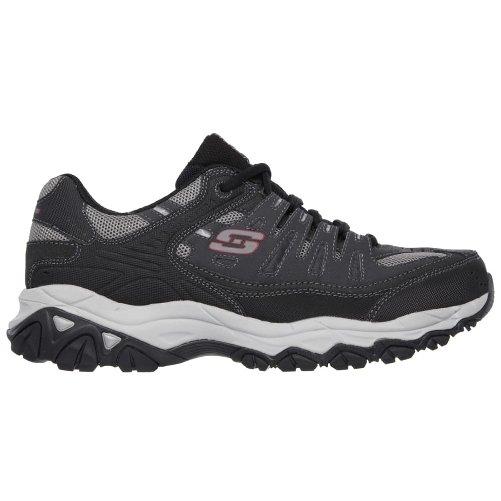 SKECHERS Men's After Burn–Memory Fit Shoes, Wide Width - GREY/RED