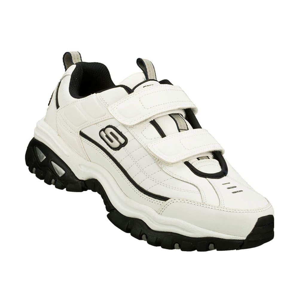 SKECHERS Men's Energy Velcro Walking Shoes, White, Wide - WHITE/NAVY