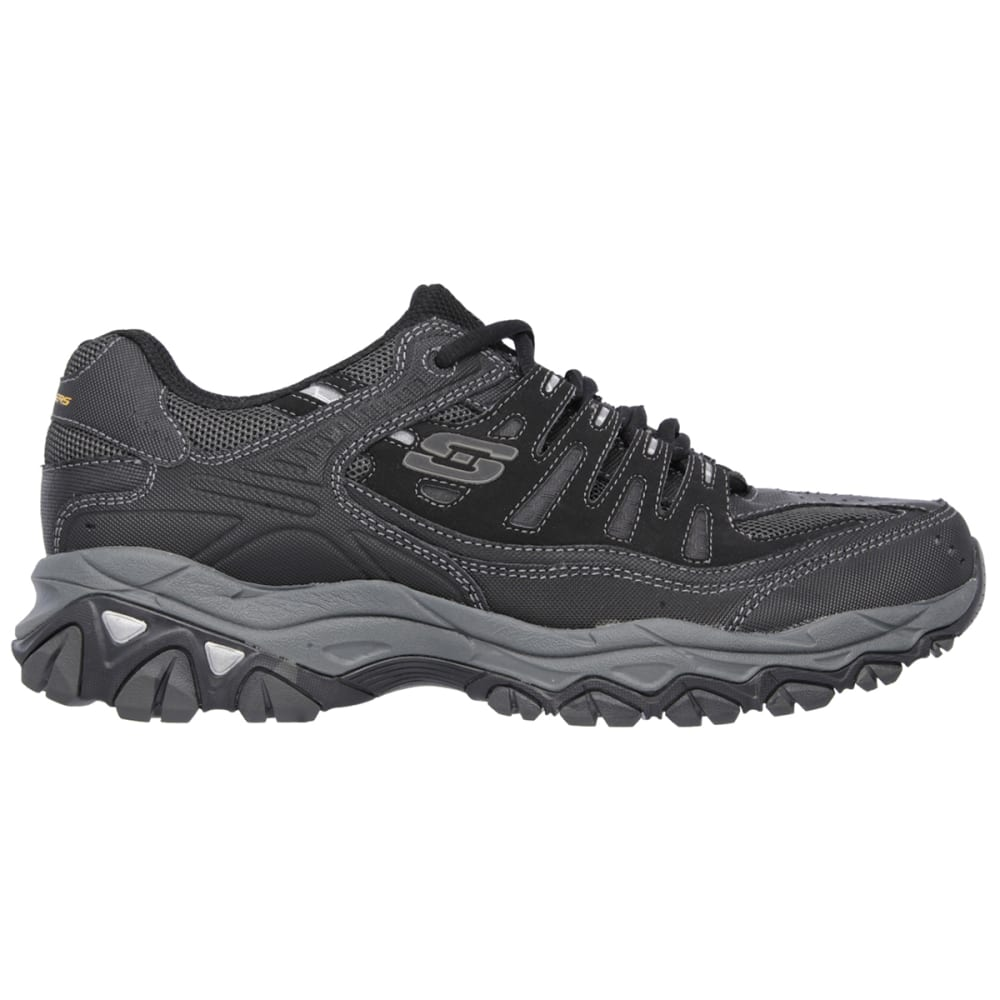 SKECHERS Men's Afterburn-Memory Fit Shoes, Wide - BLACK