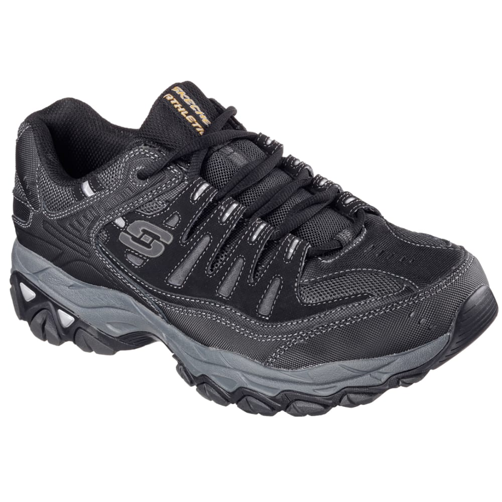 SKECHERS Men's Afterburn-Memory Fit Shoes, Wide - BLACK