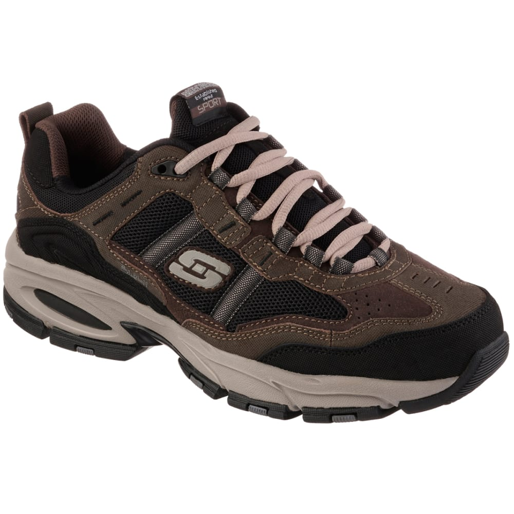 SKECHERS Men's Vigor 2.0 Trait Shoes - BROWN-BRBK