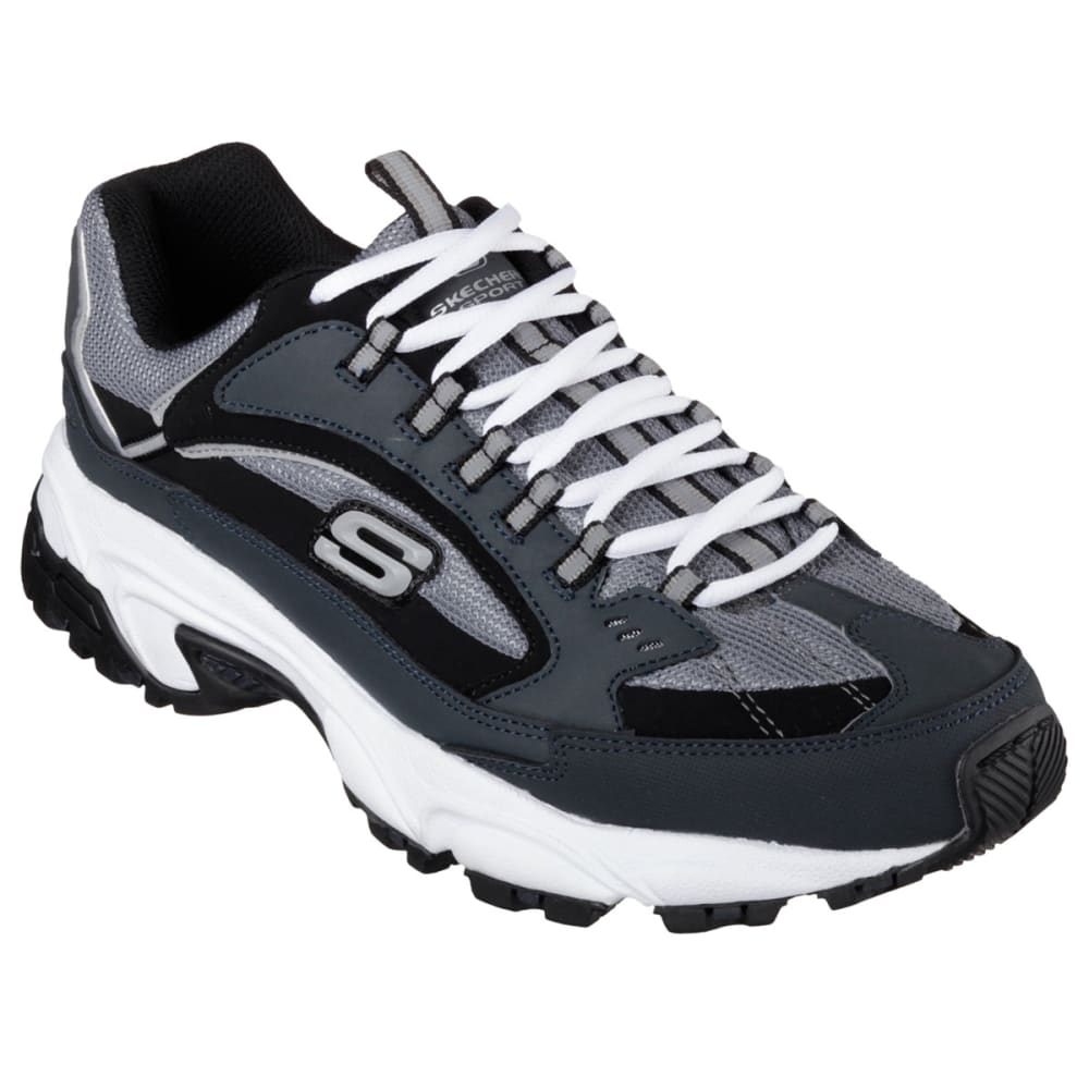 Skechers Men's Stamina Cutback Memory Foam Sneakers - Blue, 11