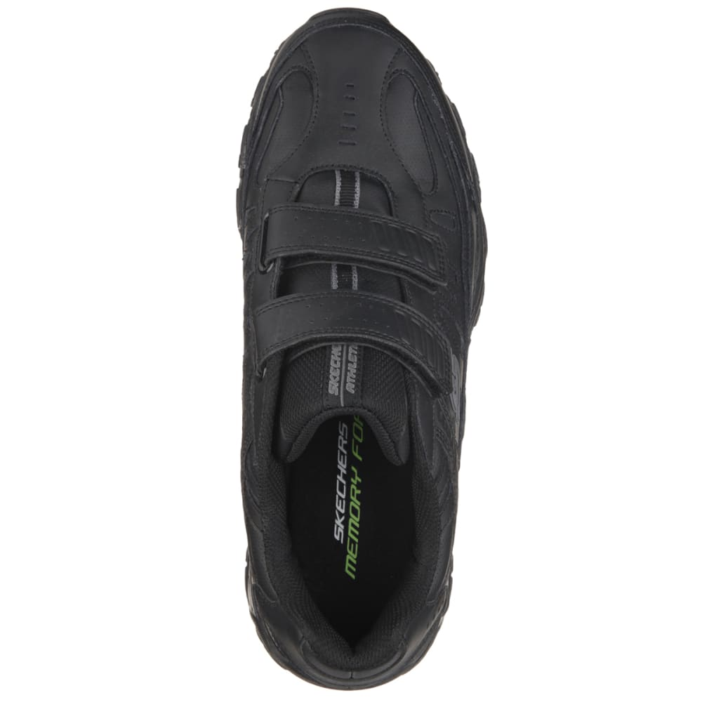 SKECHERS Men's After Burn Memory Fit  Final Cut Sneakers, Extra Wide - BLACK