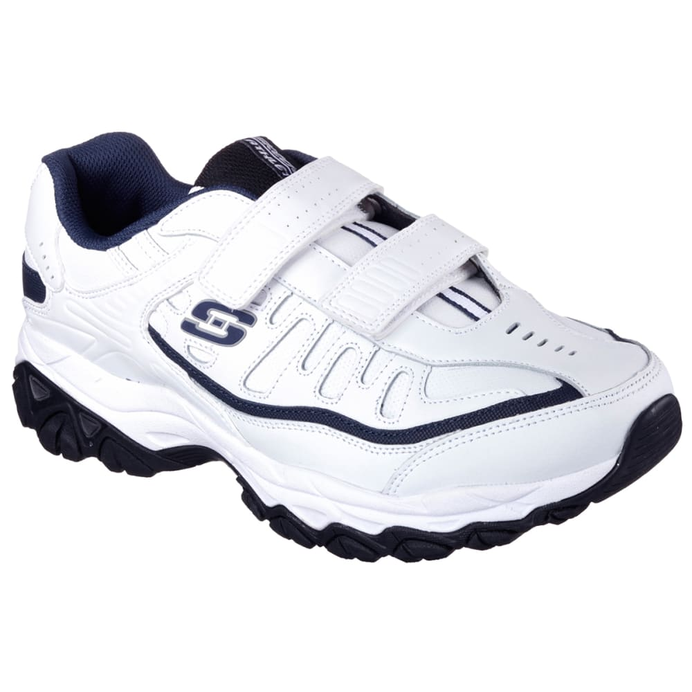 SKECHERS Men's After Burn Memory Fit  Final Cut Sneakers, Extra Wide - WHITE/NAVY