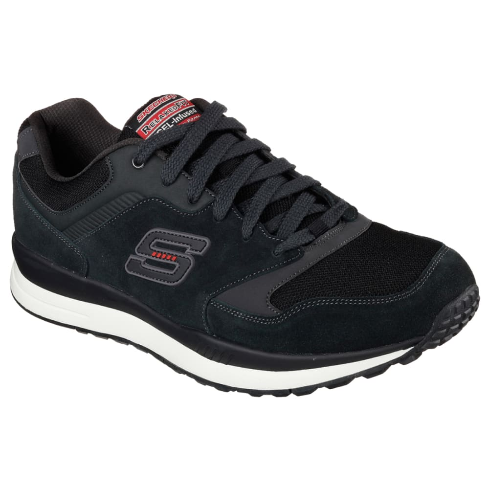 SKECHERS Men's Relaxed Fit Direct Flight Shoes - BLACK/NEPTUNE