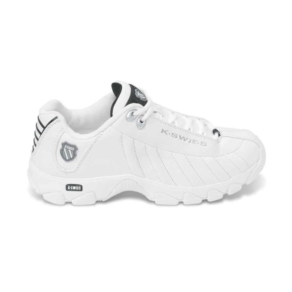 K-SWISS Men's ST329 Shoes, Wide Width - WHITE/BLACK