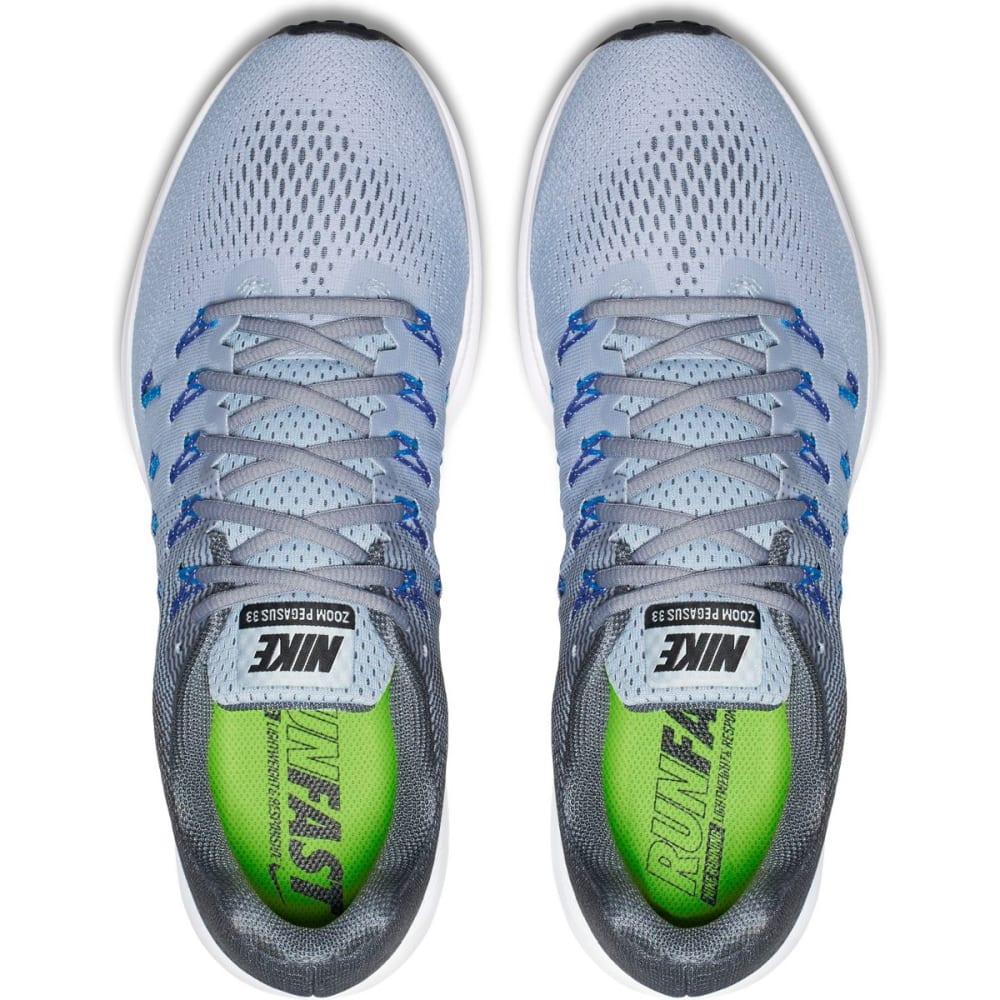 NIKE Men's Air Zoom Pegasus 33 Running Shoes - STEALTH GREY - MED