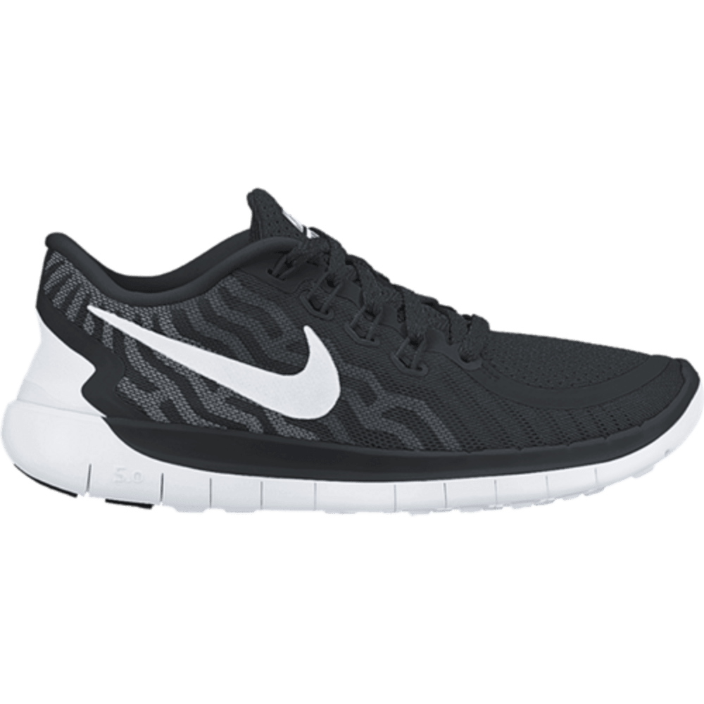 NIKE Men's Free 5.0 Running Shoes - BLACK/WHITE