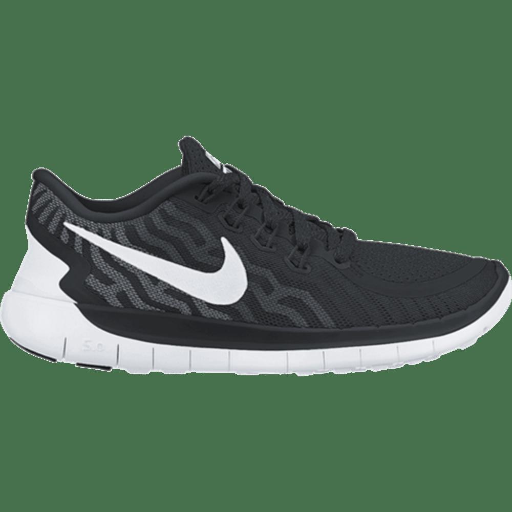 NIKE Men's Free 5.0 Running Shoes - BLACK/WHITE