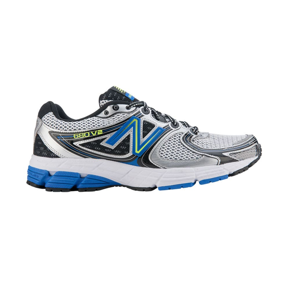 NEW BALANCE Men's M680v2 Running Shoes, Wide Width - SILVER/BLUE