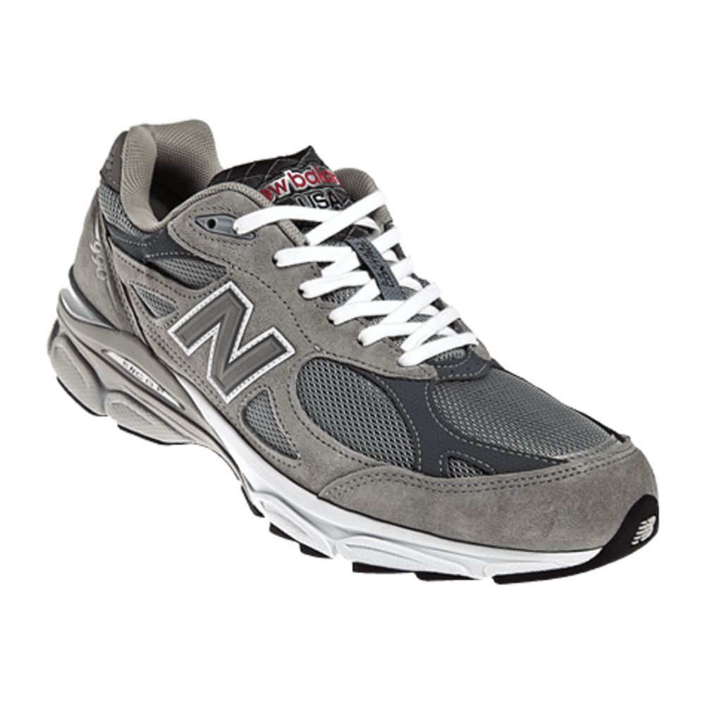 New Balance Men's 990v3 Running Shoes - Wide Width - LIGHT GREY