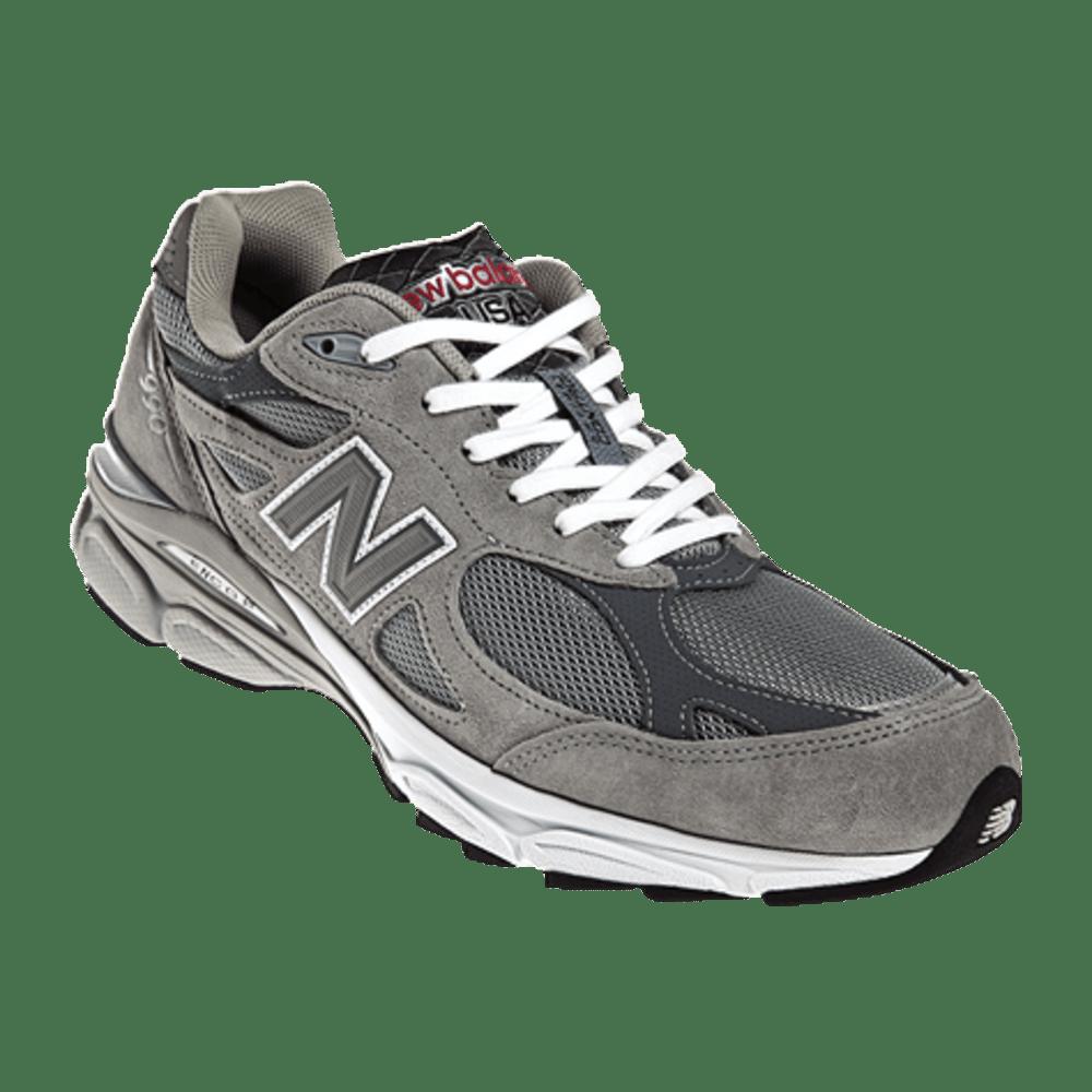 New Balance Men's 990v3 Running Shoes - Wide Width - LIGHT GREY