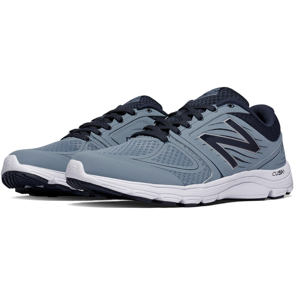 NEW BALANCE Men's 575v2 Running Shoes - GREY/NAVY MEDIUM