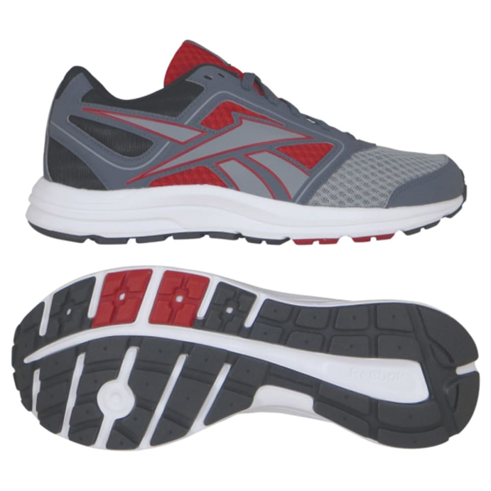REEBOK Men's Zone Cushrun Sneakers - GREY/RED
