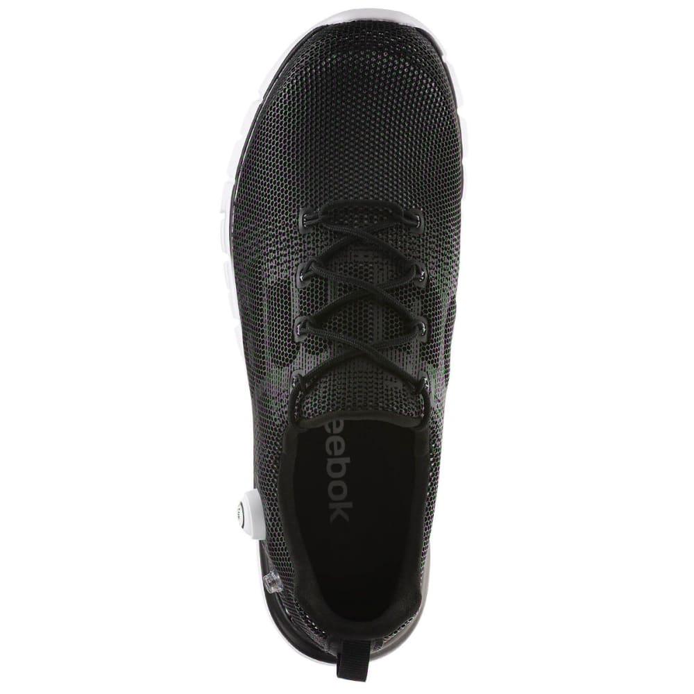 REEBOK Men's ZPump Fushion Running Shoes - BLACK/WHITE