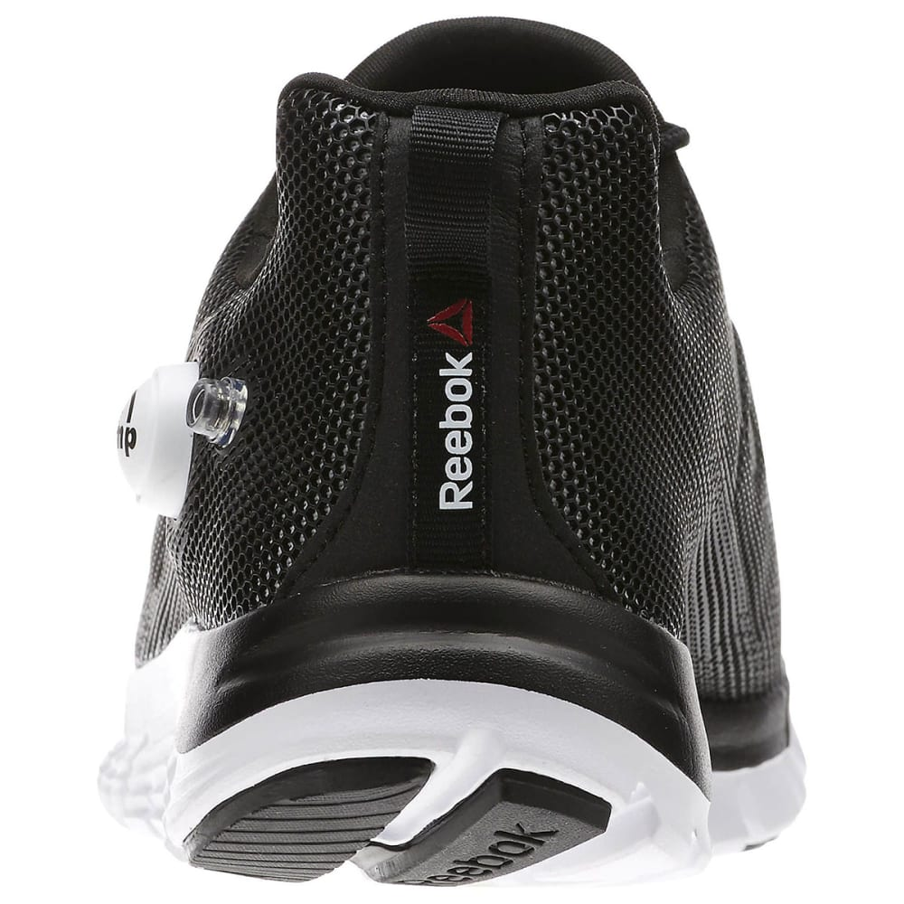 REEBOK Men's ZPump Fushion Running Shoes - BLACK/WHITE