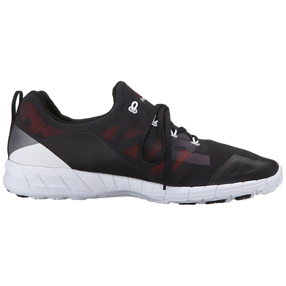 REEBOK Men's ZPump Fusion 2.0 Running Shoes - BLACK/STEEL/TROPICAL