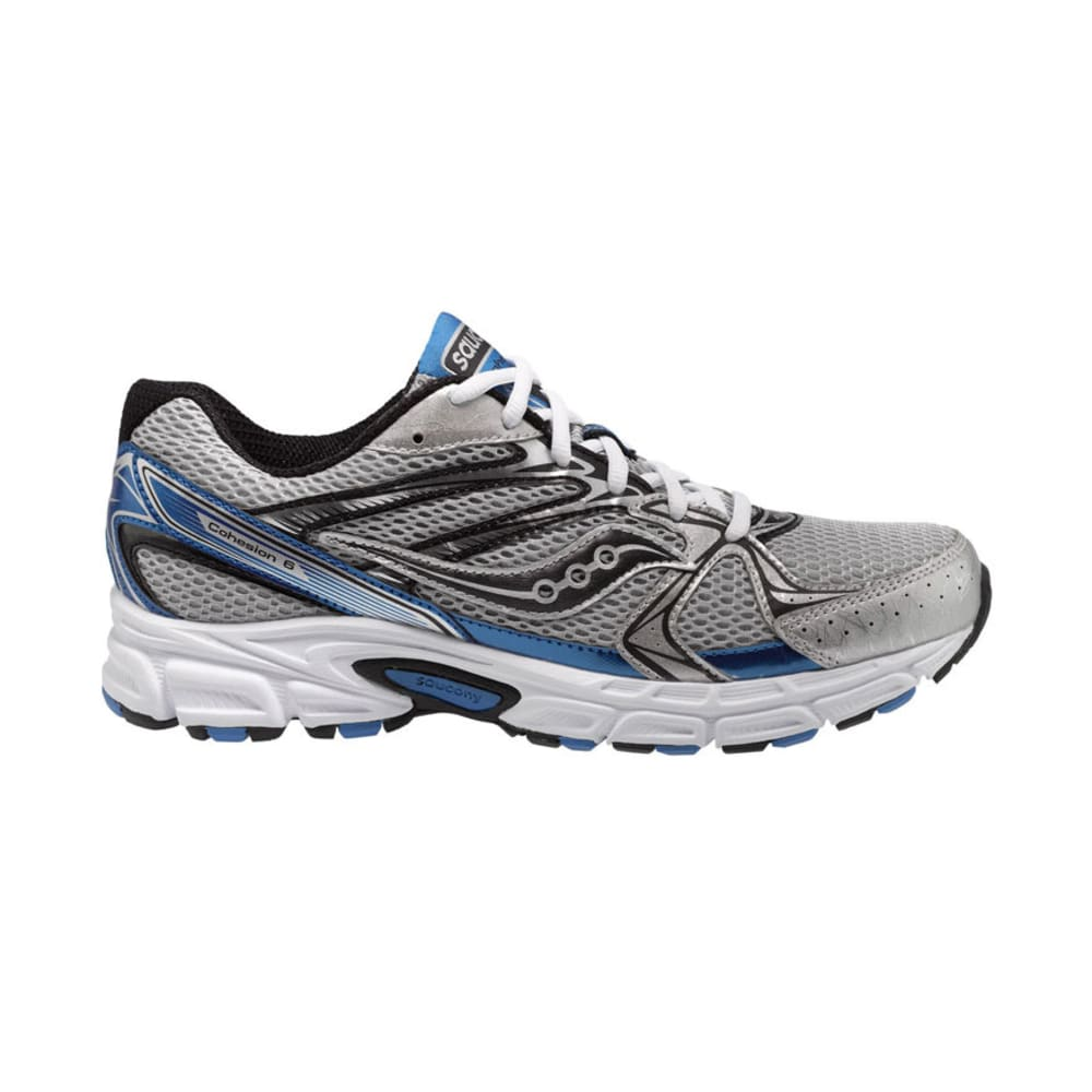 SAUCONY Men's Grid Cohesion 6 Running Shoes, Wide Width - SILVER/ROYAL/BLACK
