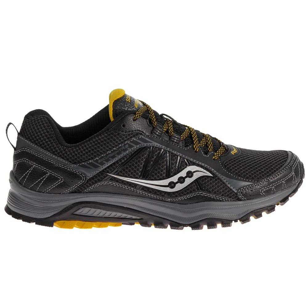 SAUCONY Men's Excursion TR9 Running Shoes, Medium Width - BLACK/YELLOW