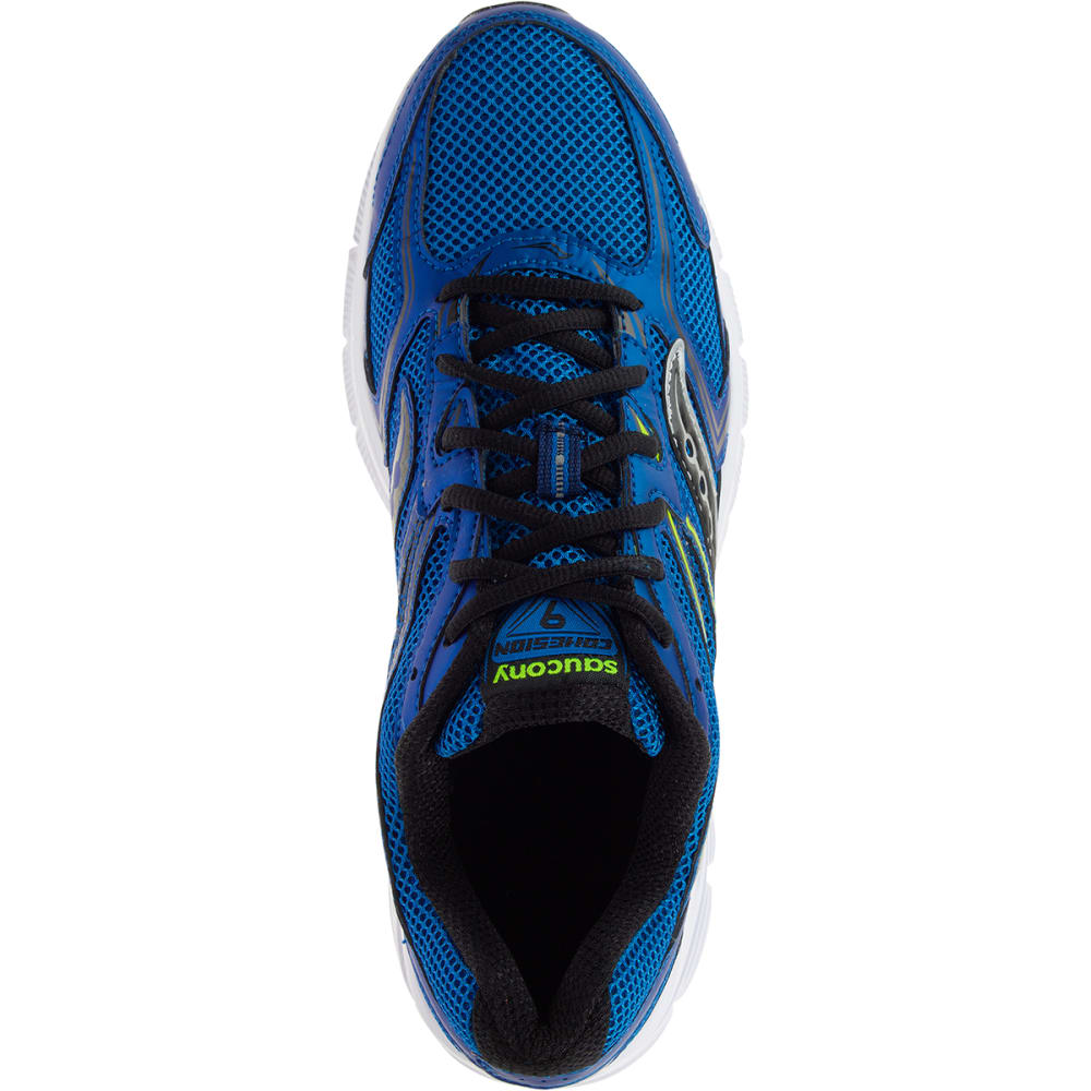 SAUCONY Men's Cohesion 9 Running Shoes - ROYAL BLUE - WIDE