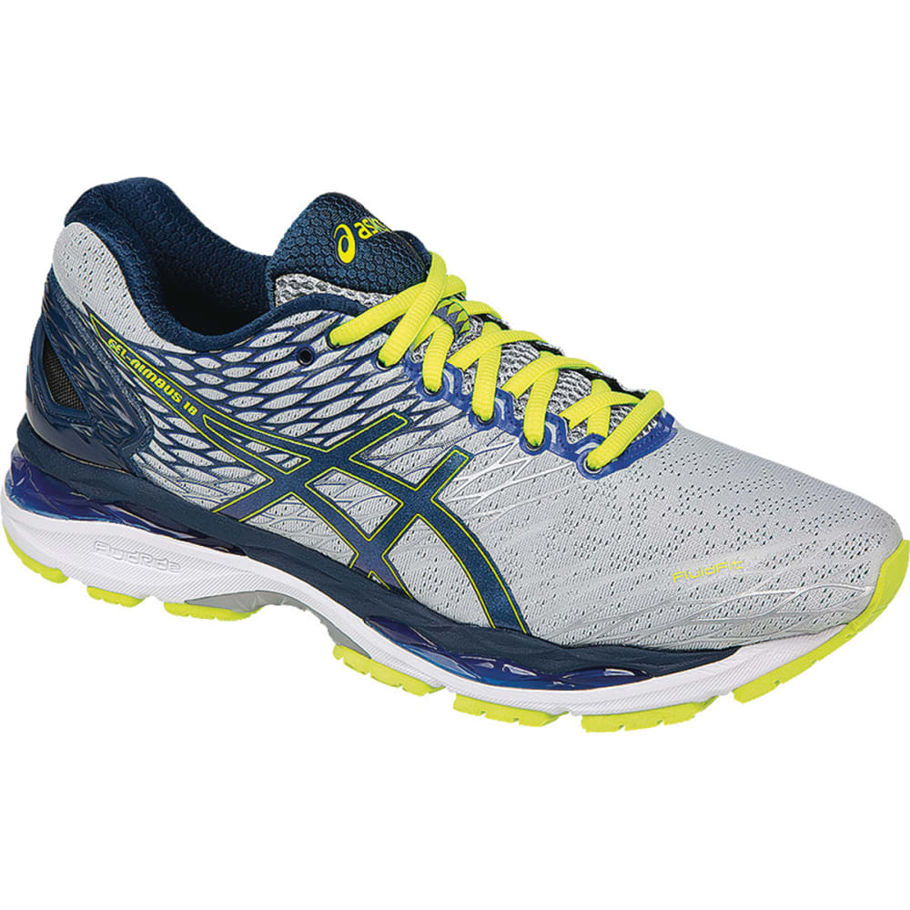 ASICS Men's GEL-Nimbus 18 Running Shoes - SILVER