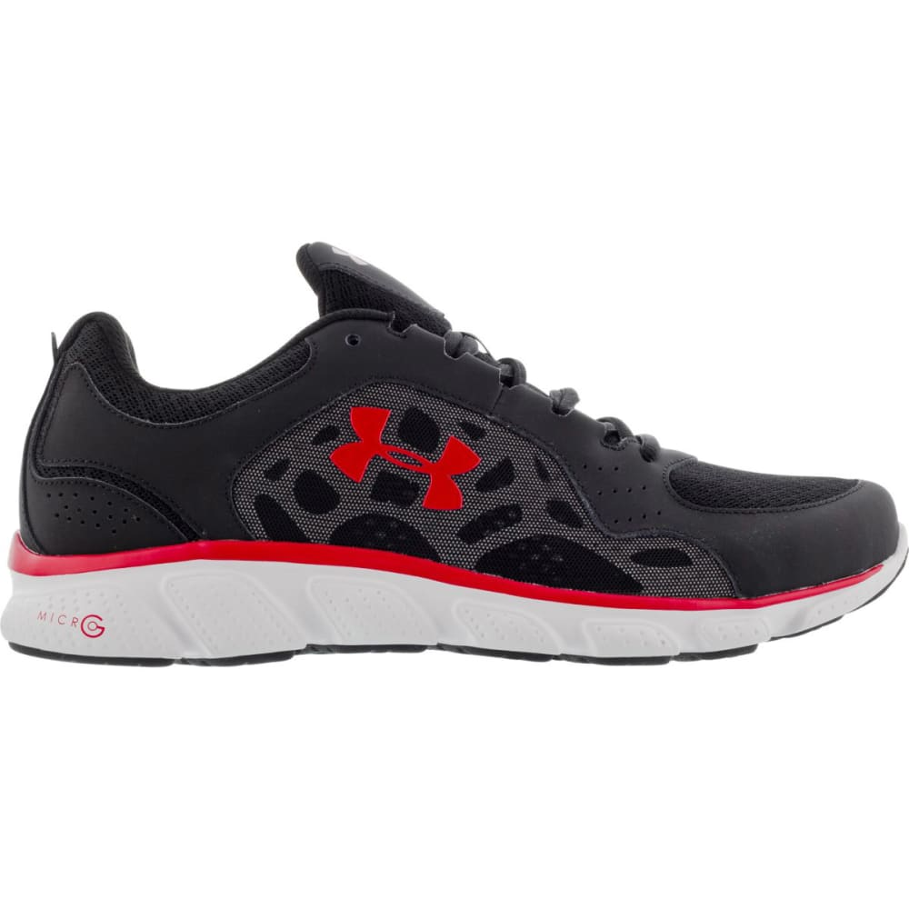 UNDER ARMOUR Men's Micro G® Assert IV Running Shoes - BLACK