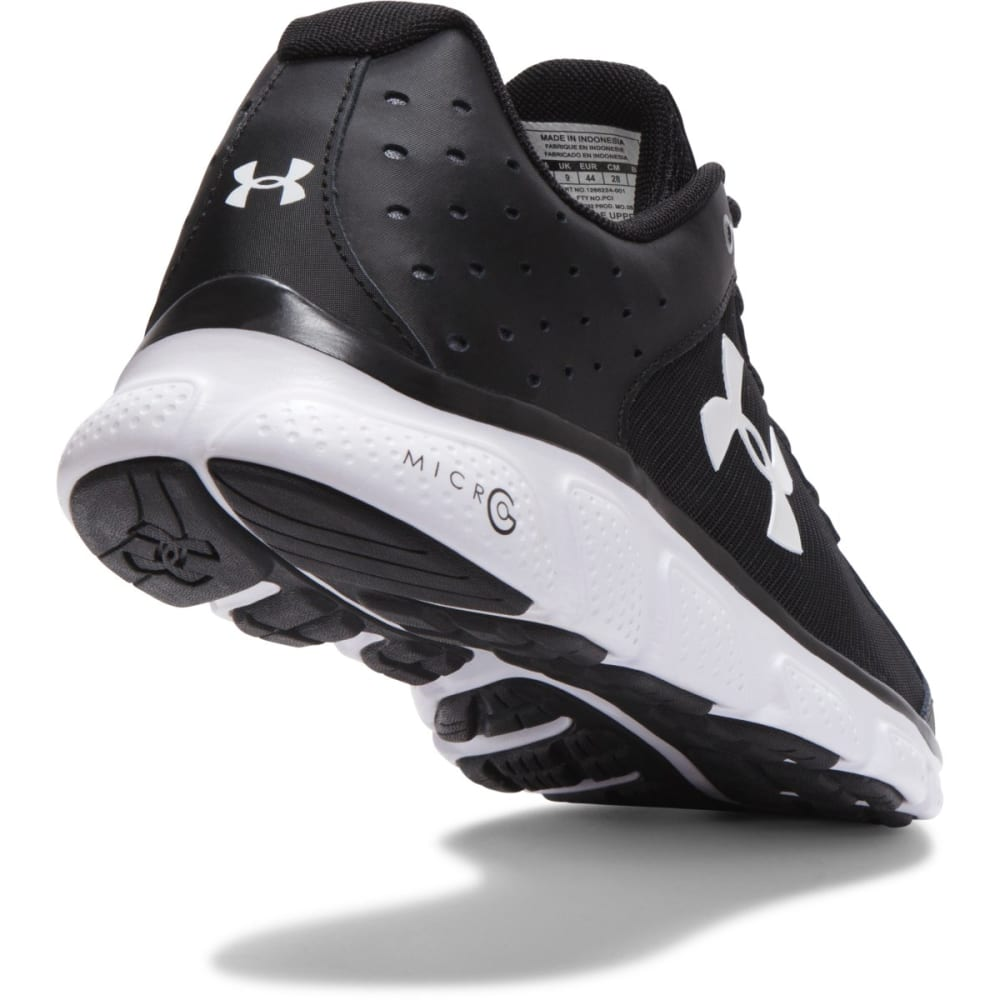 UNDER ARMOUR Men's Micro G® Assert 6 Running Shoes - BLACK