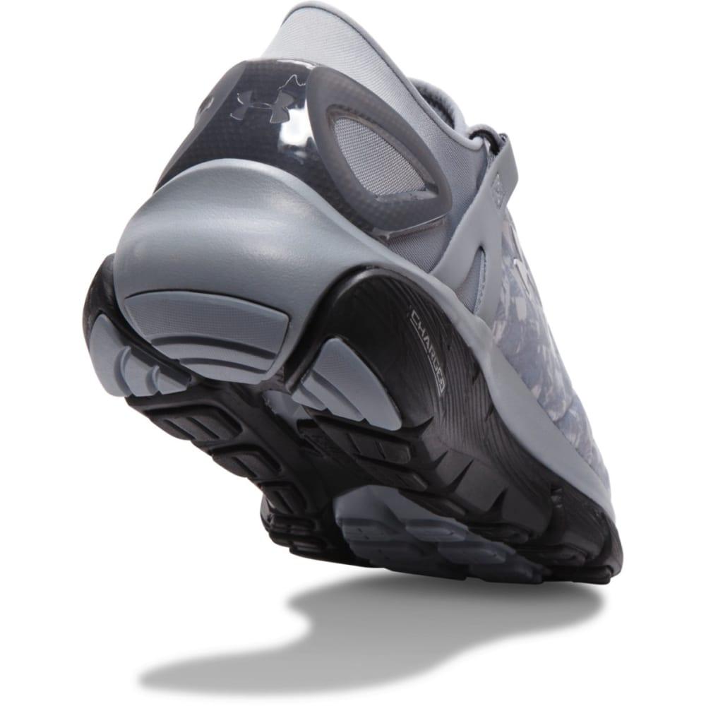 UNDER ARMOUR Men's SpeedForm® Fortis Running Shoes - STEEL/BLACK