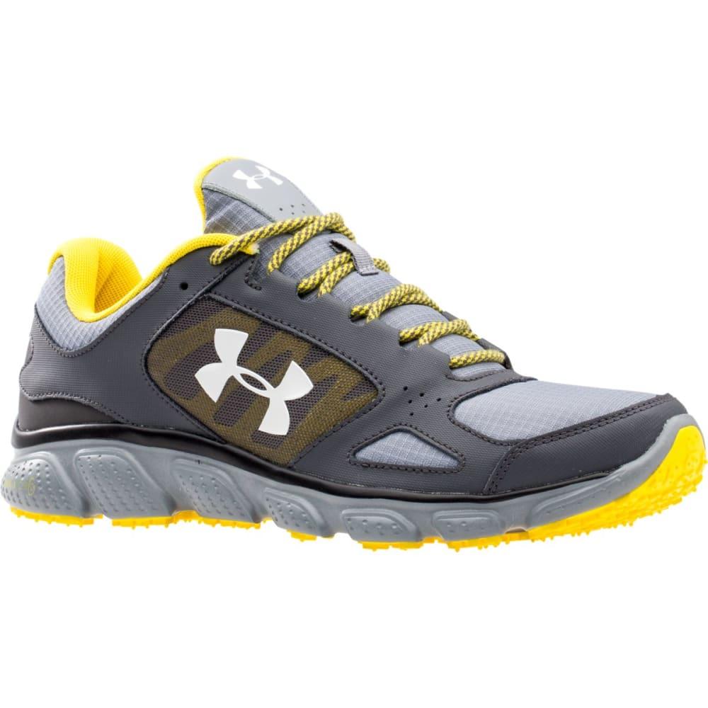 UNDER ARMOUR Men's UA Assert V Grit Running Shoes - WHITE/STEEL PRINT