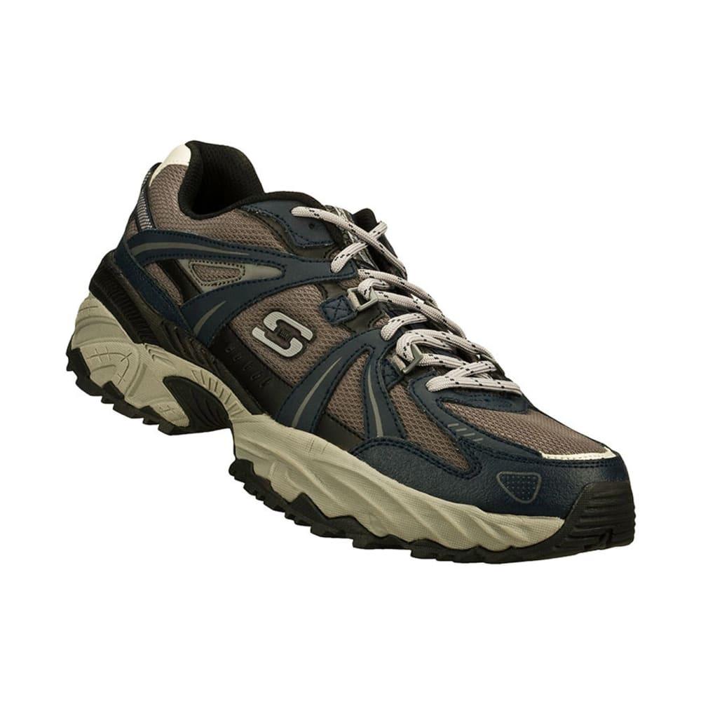 SKECHERS Men's Kirkwood Trail Shoes, 4E Wide - NAVY/GREY