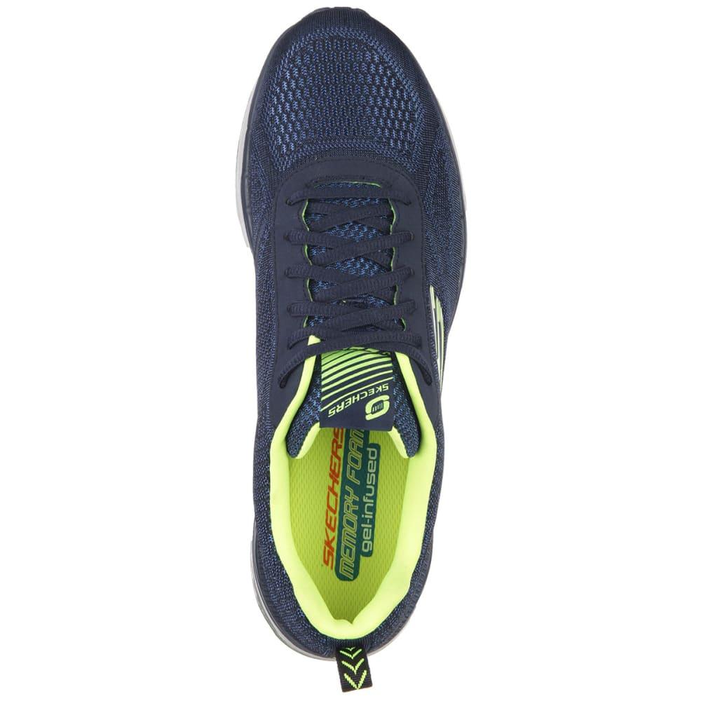 SKECHERS Men's Skech-Air Infinity Shoes - NAVY/YELLOW