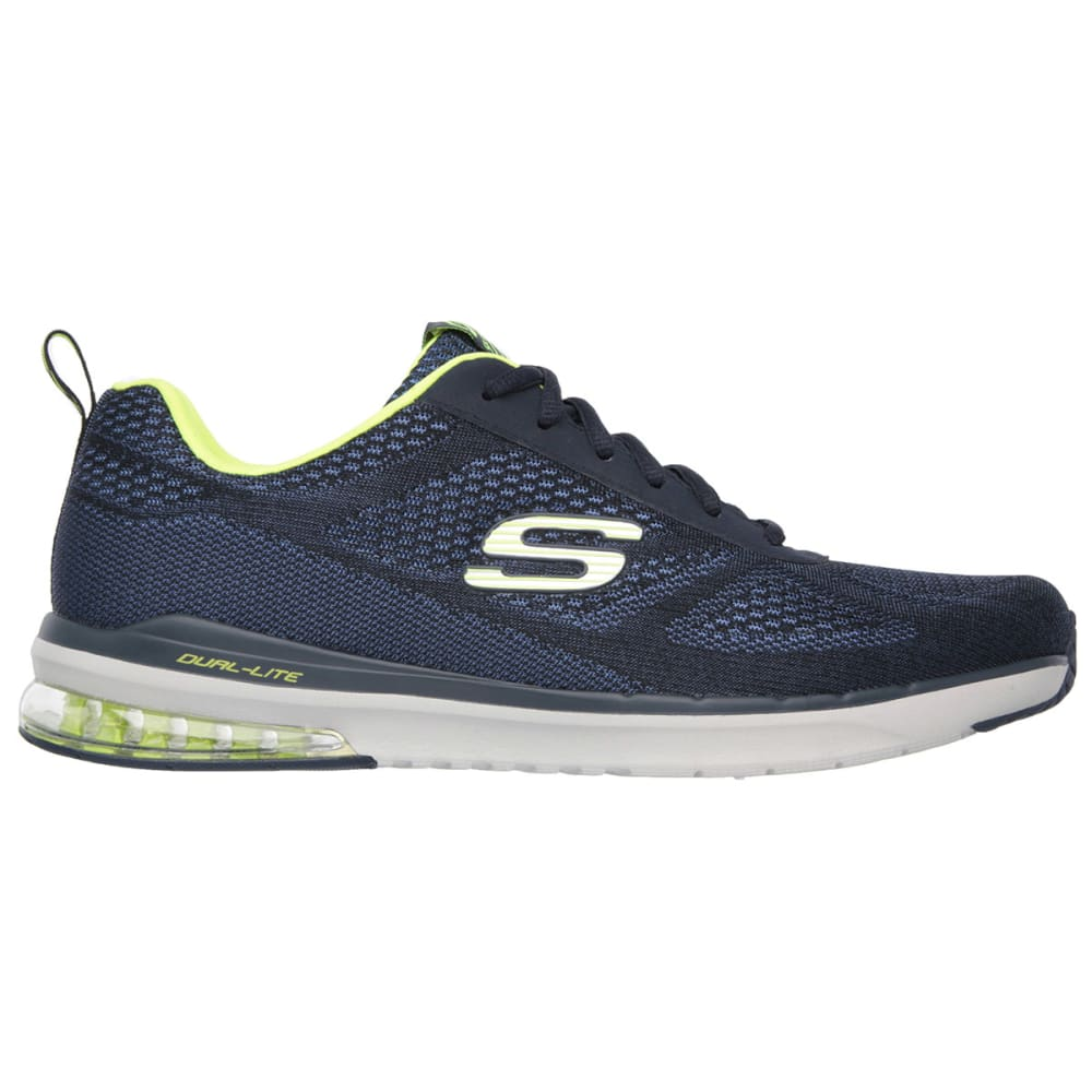 SKECHERS Men's Skech-Air Infinity Shoes - NAVY/YELLOW