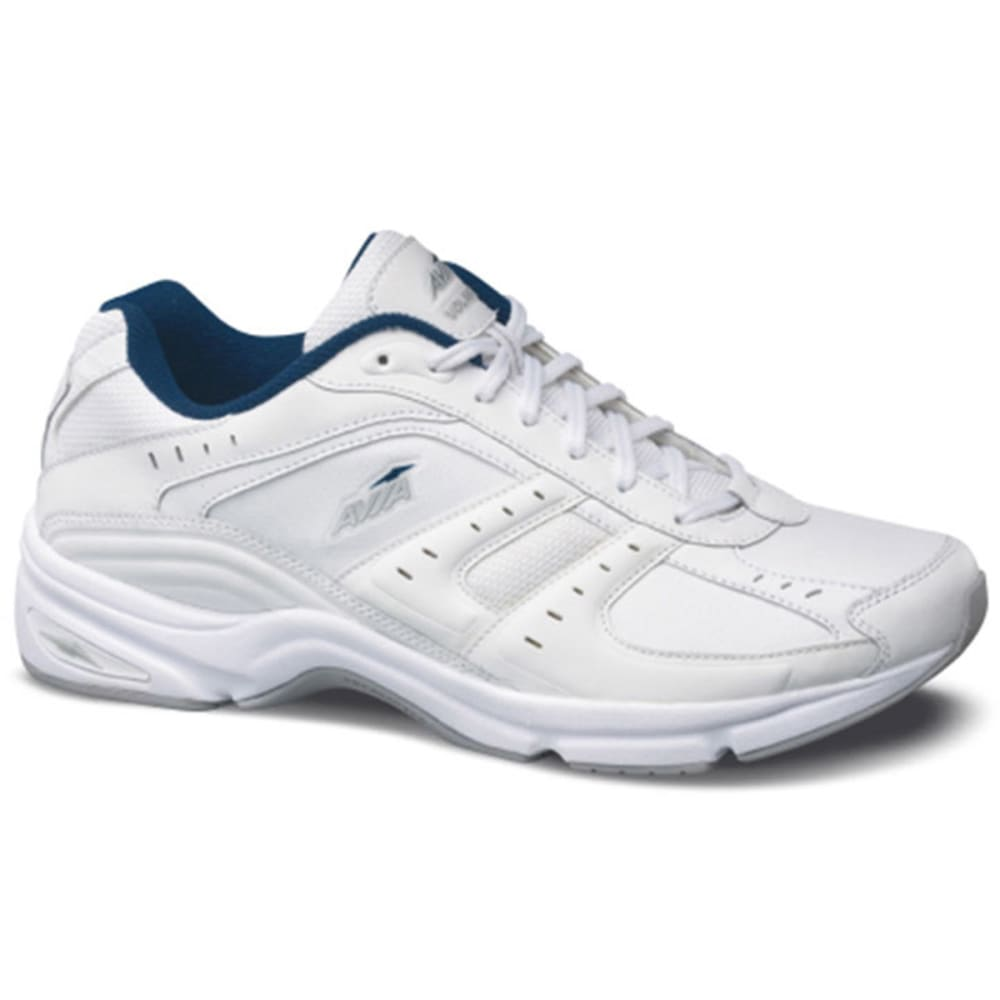 AVIA Men's Volante Walker Shoes, Wide - WHITE/CHARCOAL