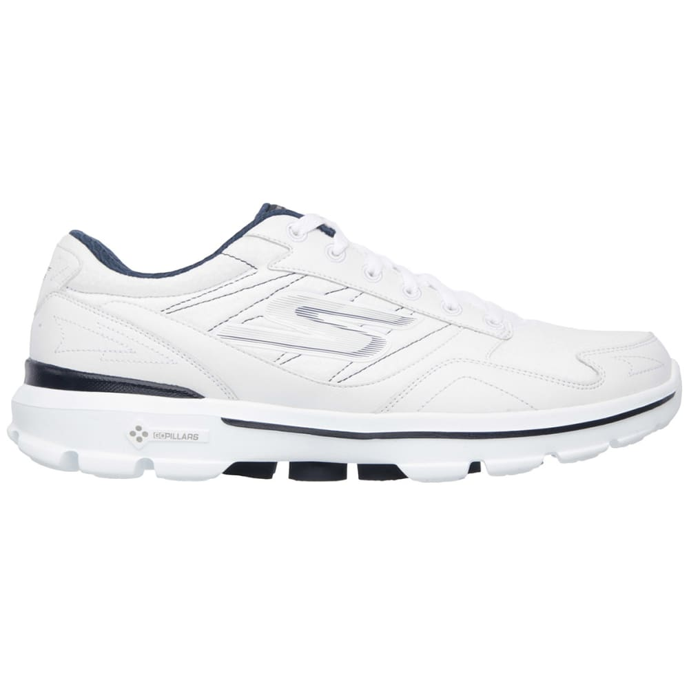 SKECHERS Men's GOWalk 3 Walking Shoes, Wide - WHITE/NAVY