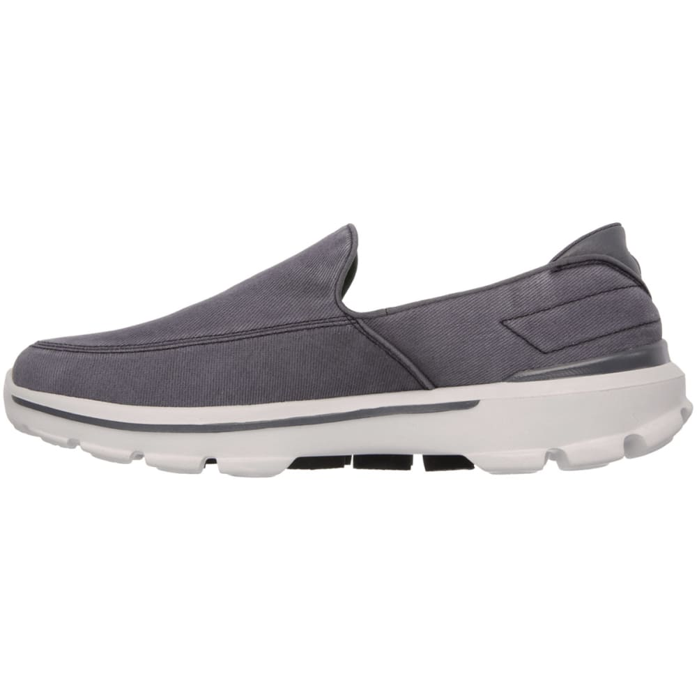 SKECHERS Men's GoWalk 3 – Unwind Shoes - CARBON HEATHER