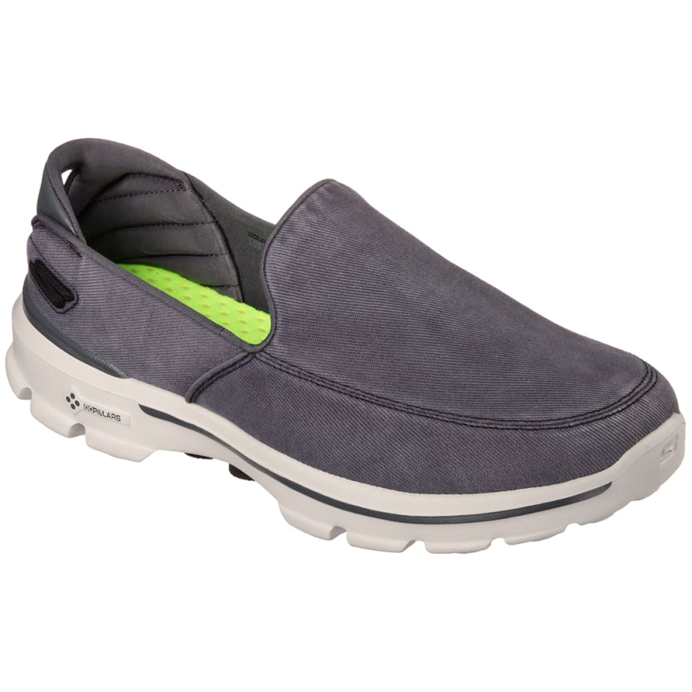 SKECHERS Men's GoWalk 3 – Unwind Shoes - CARBON HEATHER