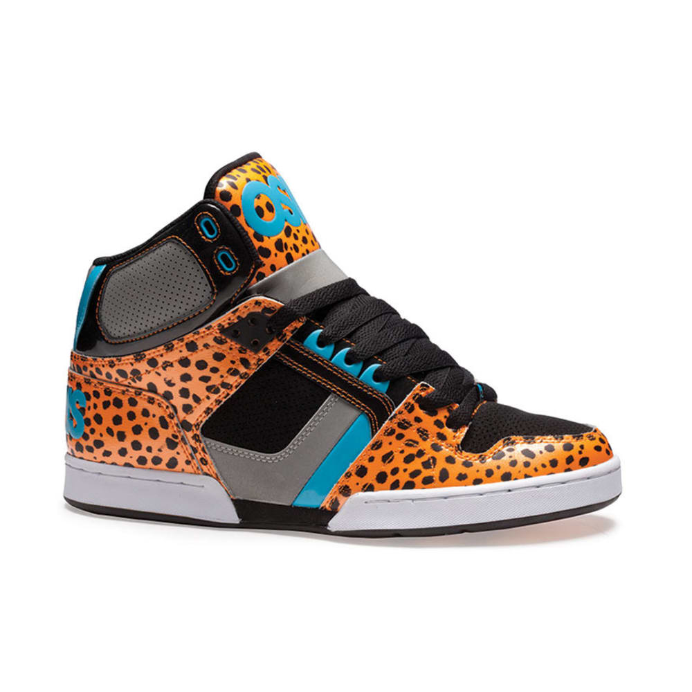 OSIRIS Young Men's NYC 83 Shoes - ORANGE/BLACK/CHEETAH