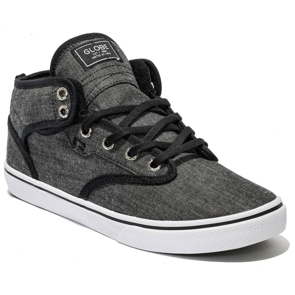 GLOBE Men's Motley Mid Skate Shoes - BLACK