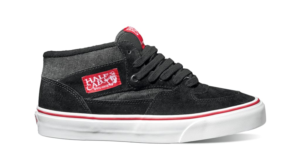 VANS Men's Half Cab Pro Shoes - BLACK/RED