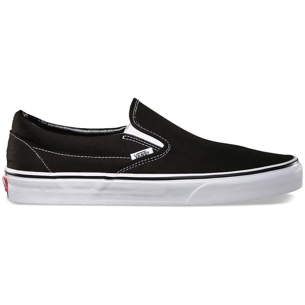 VANS Unisex Classic Slip-On Shoes - BLACK - VN000EYEBLK