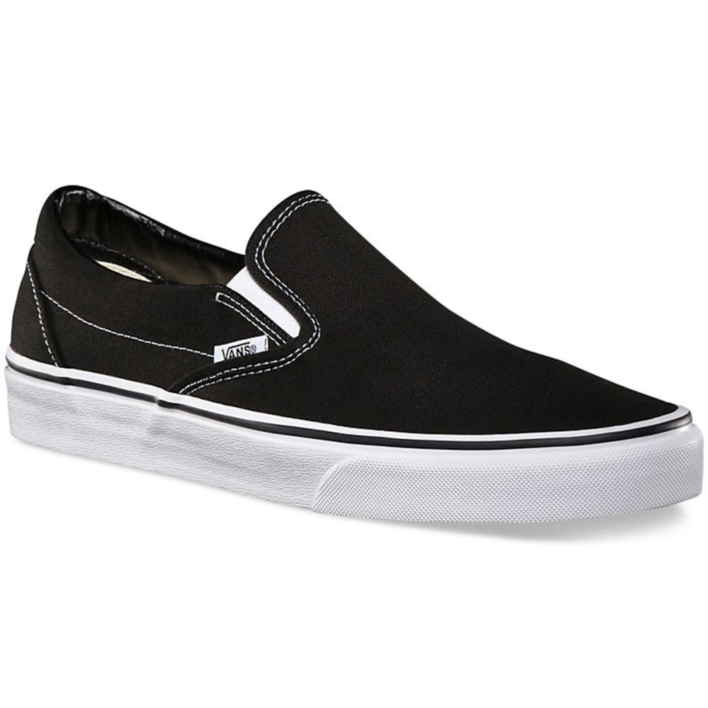 VANS Boys' Classic Slip-On Shoes, 3.5-6 - BLACK - VN000EYEBLK