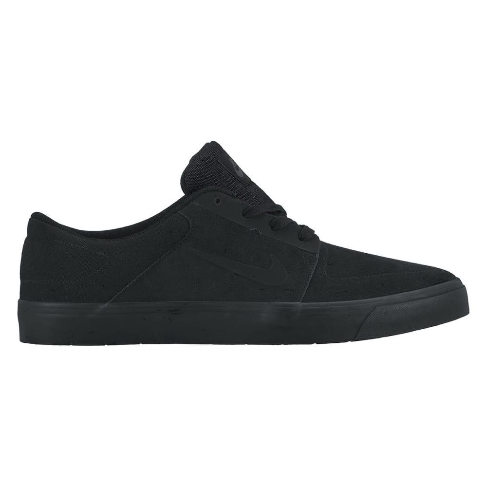 NIKE SB Men's Portmore Skate Shoes - BLACK/BLACK