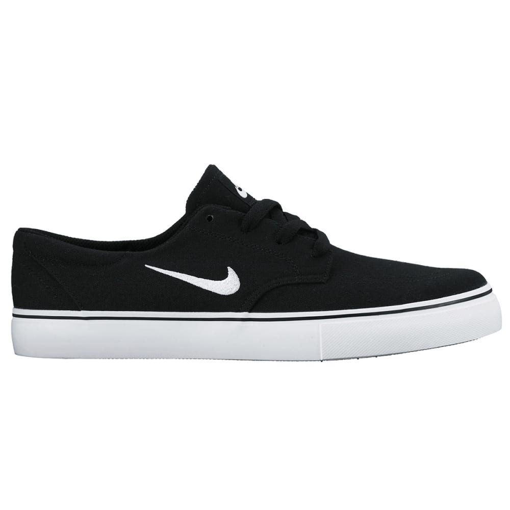 NIKE SB Men's Clutch Skateboarding Shoes - BLACK/WHITE